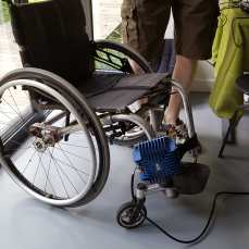 'Buttkicker' wheelchair